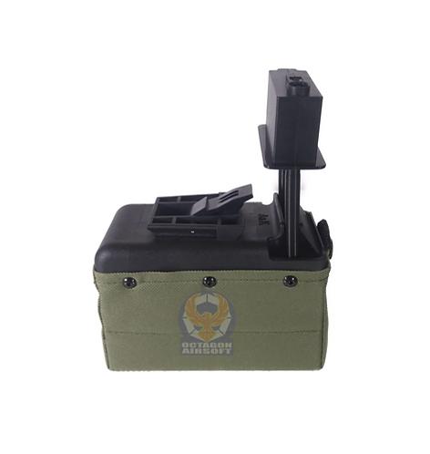 A&K M249/LMG Sound Control Box Magazine 1500rds OD
