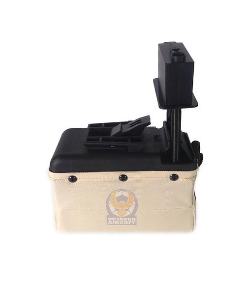 A&K M249/LMG Sound Control Box Magazine 1500rds DE A019DD (Fit S&amp