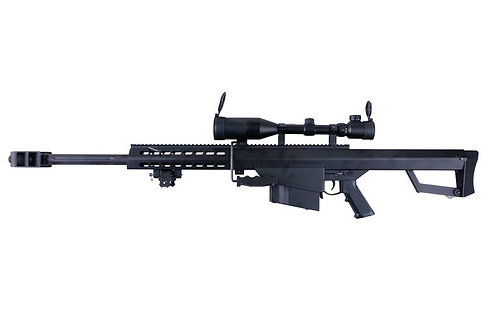 Snow Wolf M82A1 CQB Sniper Rifle AEG with Scope Black