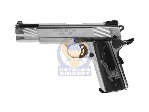 Flintlock Custom Workshop Face Off style 1911 V12 GBB Pistol (Silver)