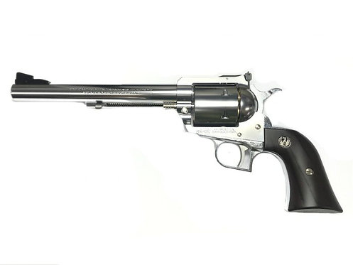 Marushin Super Black Hawk  7.5 inches Gas Revolver SV w Real Wood Grip Version