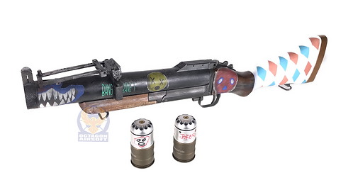 FCW King Arms M79 Gas Launcher with Real Wood Harley Quinn Custom