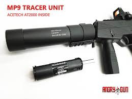Angry Gun Silencer with Tracer for KSC/KWA MP9 GBB