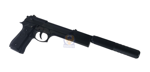 FCW Leon Com with Silencer Kit for Marui / KSC / WE M9, M92F, M93R GBB Pistol