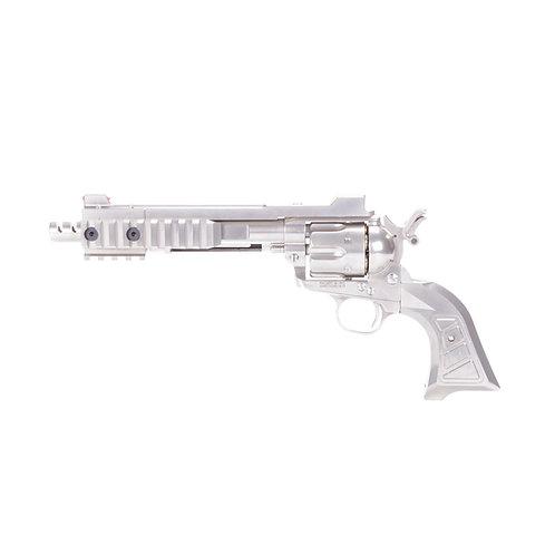King Arms SAA.45 Devil Cyberpunk Revolver Silver