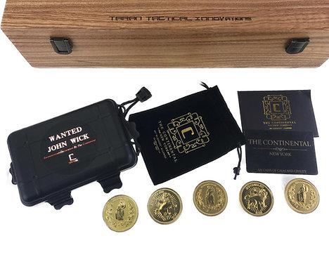 Flintlock Custom Workshop John Wick Metal Coins Set (5pcs)