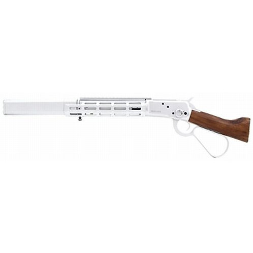 A&K Winchester M1873 Gas Lever Action Real Wood Modern Tactical Rail Silencer SV