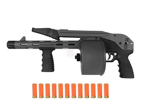 FCW Striker 12 Toy Gas Shotgun 6MM Airsoft Version Black Color Custom