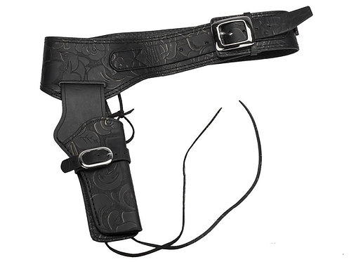 FCW Cowboy SAA Leather Holster Black Type B (Umarex / King Arms.etc)