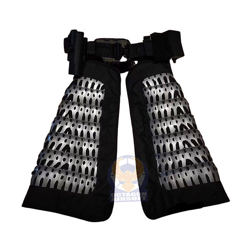 FCW Samurai  Style Thigh Armor Set (SV Steel Armor Scales With BK Pad)