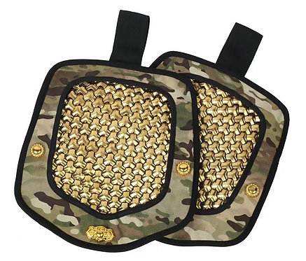 FCW Samurai  Style B Shoulder Pad Set (Gold Steel Armor Scales With MC Pad