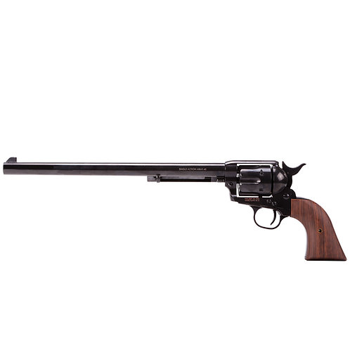 King Arms SAA .45 Peacemaker Airsoft Gas Revolver L 11inches - Shinny Black