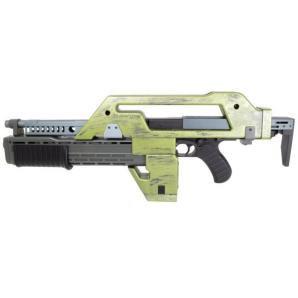 Snow Wolf M41A Pulse Rifle AEG Alien Rifle Weathering Green
