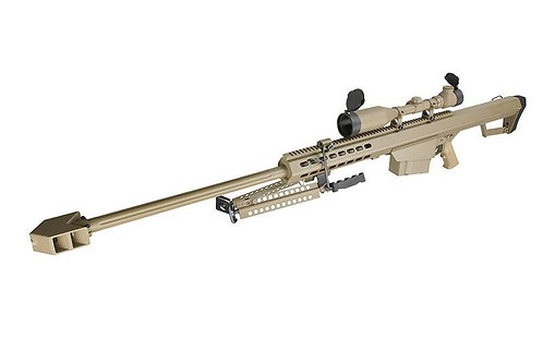 Snow Wolf Metal M82A1 Sniper Rifle AEG with Scope DE