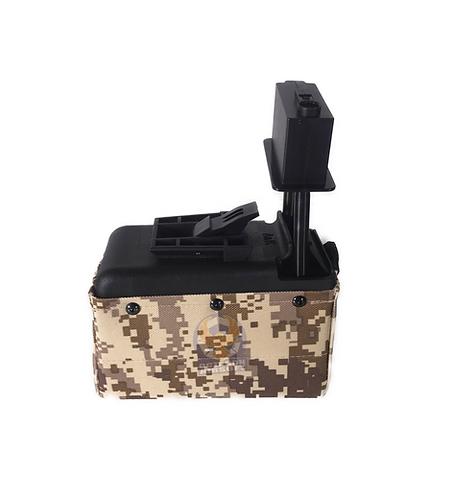 A&K M249/LMG Sound Control Box Magazine 1500rds Digital Camo