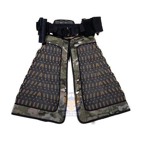 FCW Samurai  Style Thigh Armor Set (BK Steel Armor Scales With MC Pad)