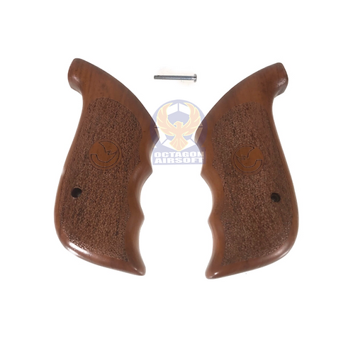 Kimpoi Hand Carved Finger Wood Grip For Chiappa Rhino CO2 Revolvers (Engraved))