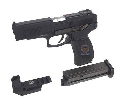 FCW MP443 ALL PLASTIC CUSTOM DX VERSION (Extra Gas Magazine + Low Mount)