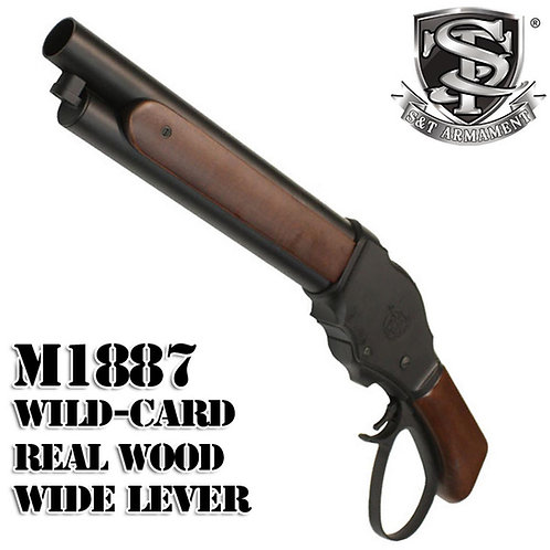S&T M1887 Wild Card Shell Ejecting Gas Shotgun Real Wood Shorty With Wide Lever