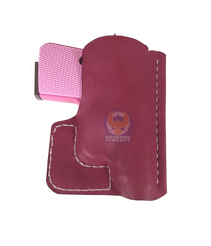 FCW Flintlock Custom Workshop CT25 Handmade Leather Holster Pink (Red)