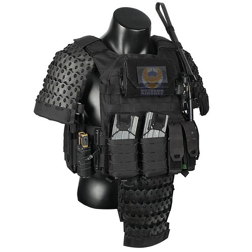FCW Samurai  Style Armor Belly Set (BK Steel Armor Scales With BK Pad)