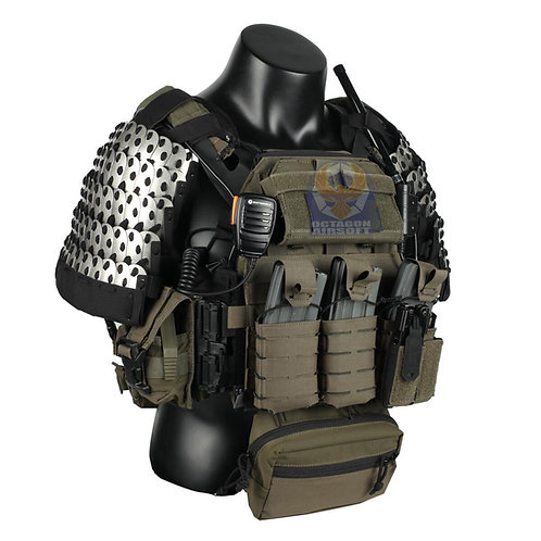 FCW Samurai  Style Armor Belly Set (SV Steel Armor Scales With BK Pad)
