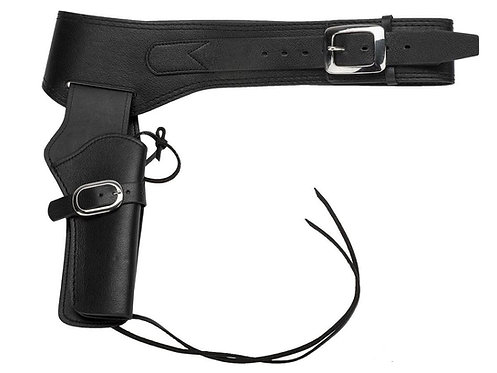 FCW Cowboy SAA Leather Holster  Black Type C (Umarex / King Arms.etc)
