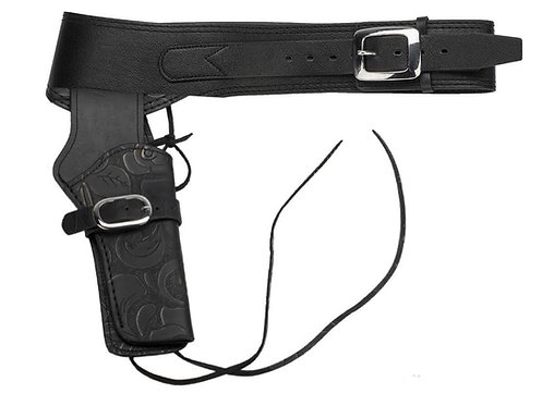 FCW Cowboy SAA Leather Holster  Black Type D (Umarex / King Arms.etc)