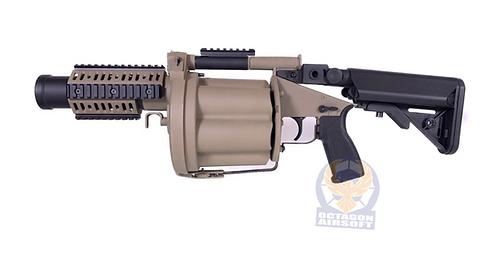 LDT MGL Grenade Launcher with Retractable Stock -  Tan