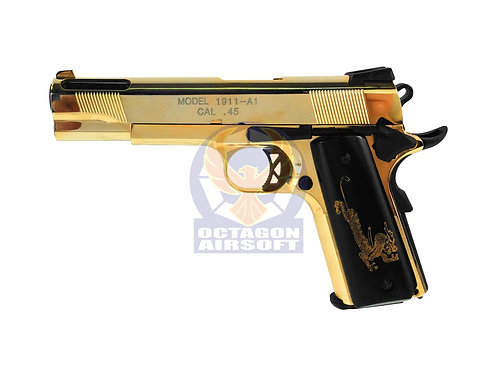 Flintlock Custom Workshop Face Off style 1911 V12 GBB Pistol (Golden)