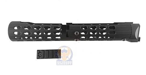 TWI VS-25 Keymod Aluminum Handguard For AK105 (BK) Marui AKM GBBR Version