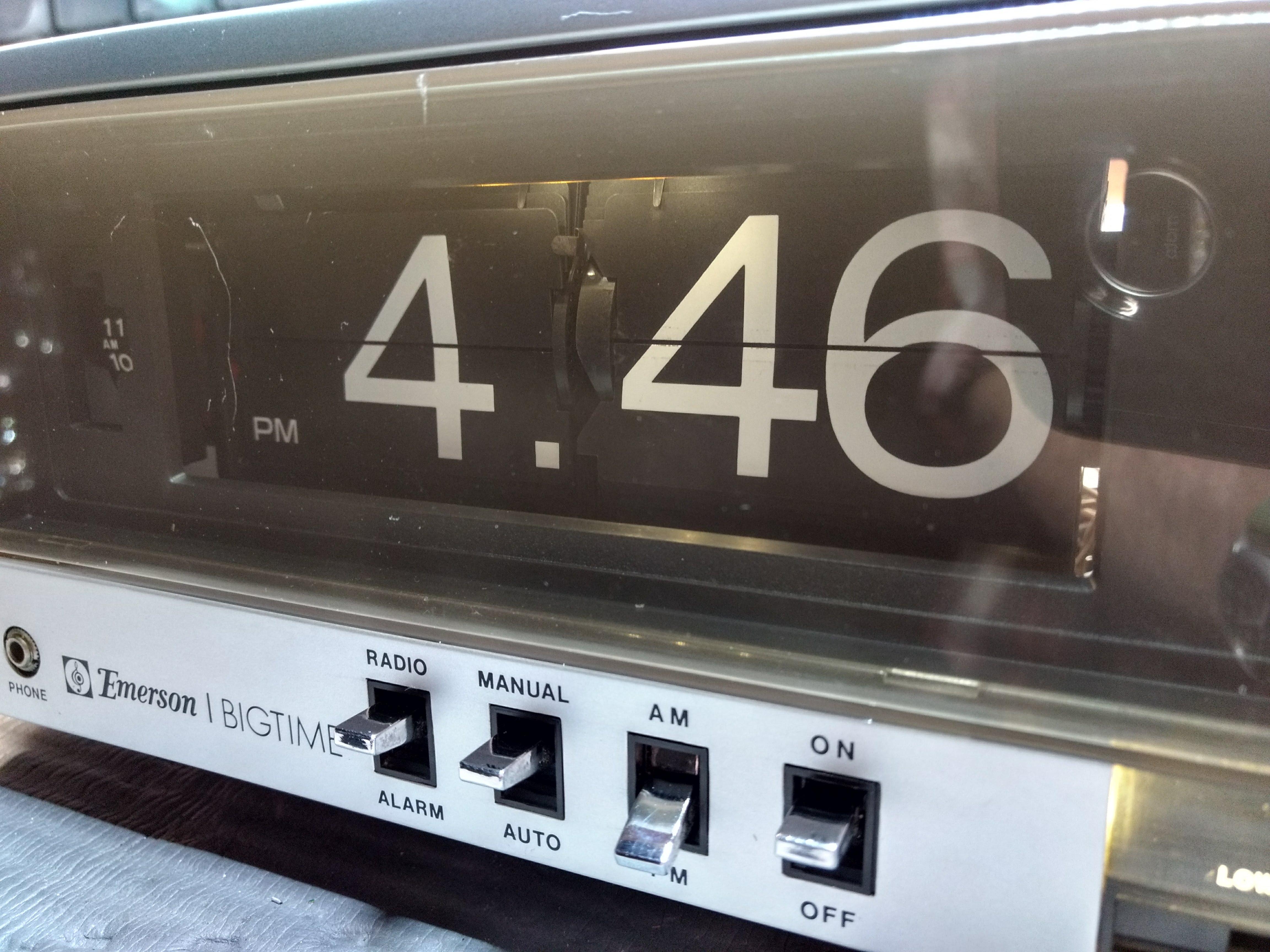 Emerson Flip Clock LED display