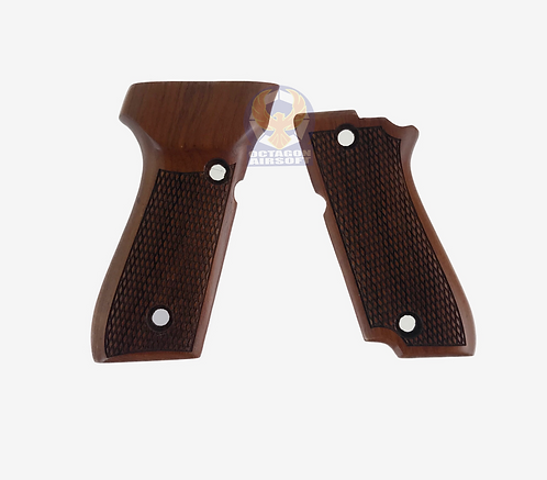 Kimpoi M93R Hand Carved Real Wood Grip A For KSC/KWA M93R S7 GBBP W/O LOGO