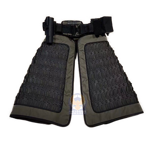 FCW Samurai  Style Thigh Armor Set (BK Steel Armor Scales With RG Pad)