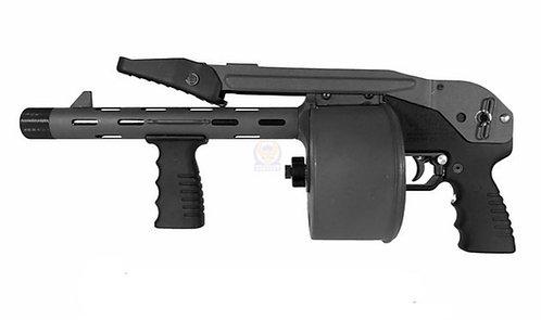 FCW Striker 12 Toy Gas Shotgun 6MM Airsoft  APS Version BK  (WITHOUT SHELLS)