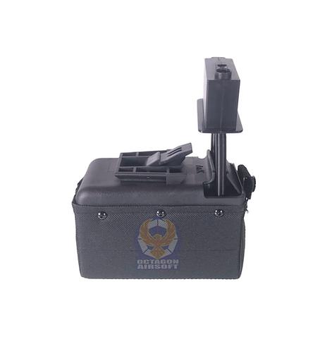 A&K M249/LMG Sound Control Box Magazine 1500rds BK