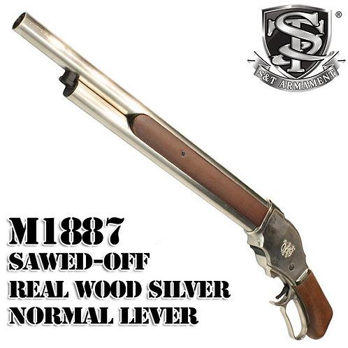 S&T M1887 Sawed Off Shell Ejecting Gas Shotgun Real Wood Medium SV