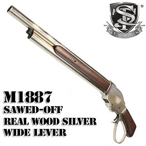 S&T M1887 Sawed Off Shell Ejecting Gas Shotgun Real Wood Medium SV W/ Wide Lever
