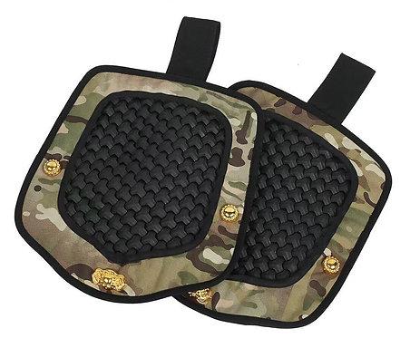 FCW Samurai  Style B Shoulder Pad Set (BK Steel Armor Scales With MC Pad