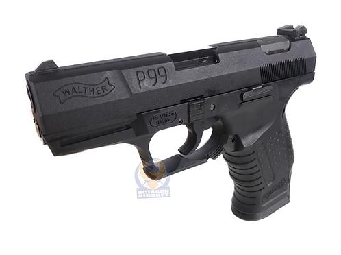 FCW P99 GBB Pistol with Full Marking Custom Black (WE BASE)