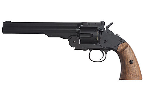 Gun Heaven 793 1877 MAJOR 3 6mm Co2 Revolver - Wealther Black