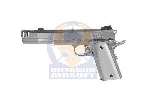 Armorer Works (WE) NE3101 Silver 1911 Long Com GBB Pistol