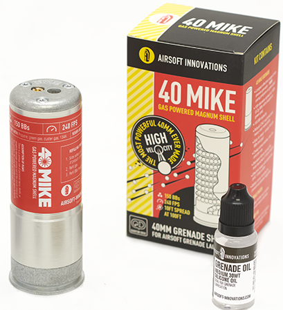 Airsoft Innovations 40 Mike Gas Powered Magnum Shell