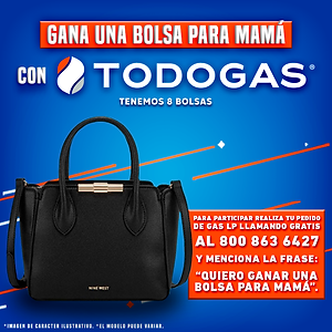 Gana una bolsa para mamá con Todogas
