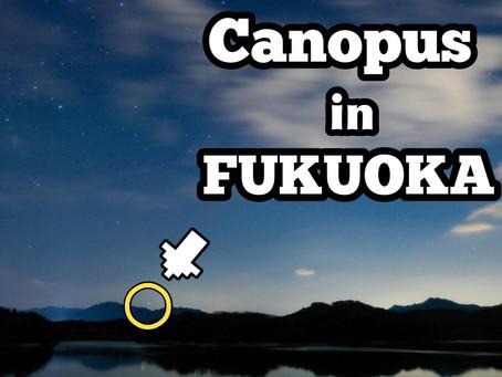 フクオカでカノープス