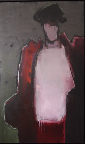 Mystery woman in the night 100x60cm