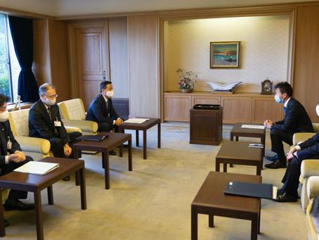 山口県知事と意見交換