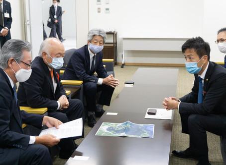 山口県議会議長、周防大島町長、和木町副町長と意見交換
