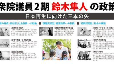 私の政策「日本再生に向けた3本の矢」