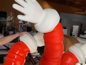 Santa Arms Props Fabrication